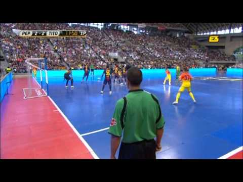 FC Barcelona plays Futsal